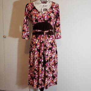 Laundry by Shelli Segal Abstract Print Dress